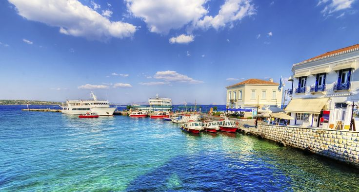 The port of Spetses, Greece