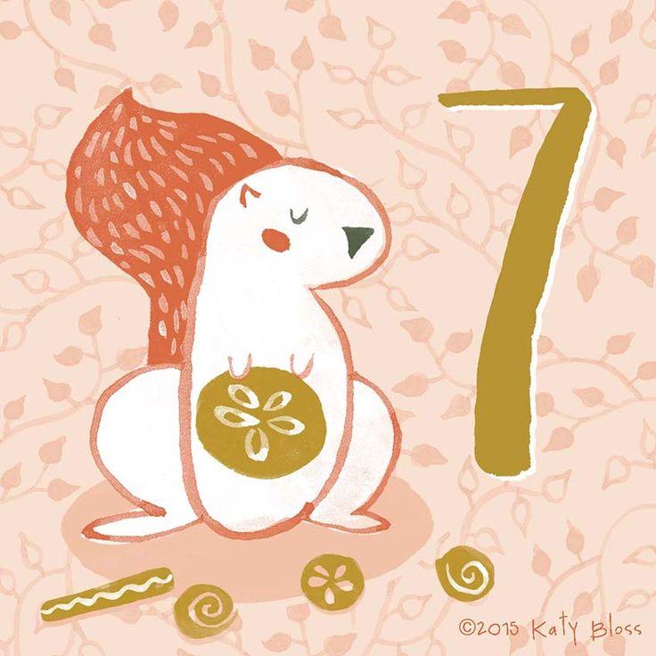 Katy Bloss Illustrated Advent Calendar Day 7