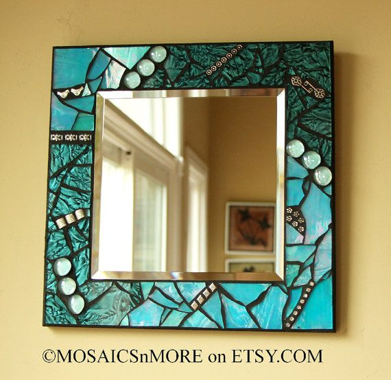 Amazing Aqua Mirror to match your switch plate  by MOSAICSnMORE