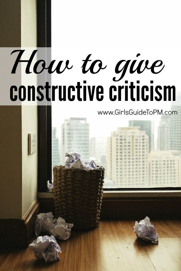 criticism at workplace Constructive criticism from your boss can be a gift in the way that a free gym membership can be a gift: even if you didn't want it, it can benefit you greatly count yourself fortunate if you .