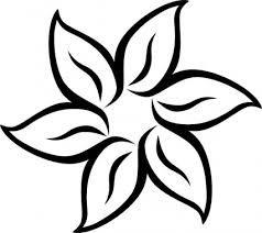 Image result for plantillas de flores para recortar