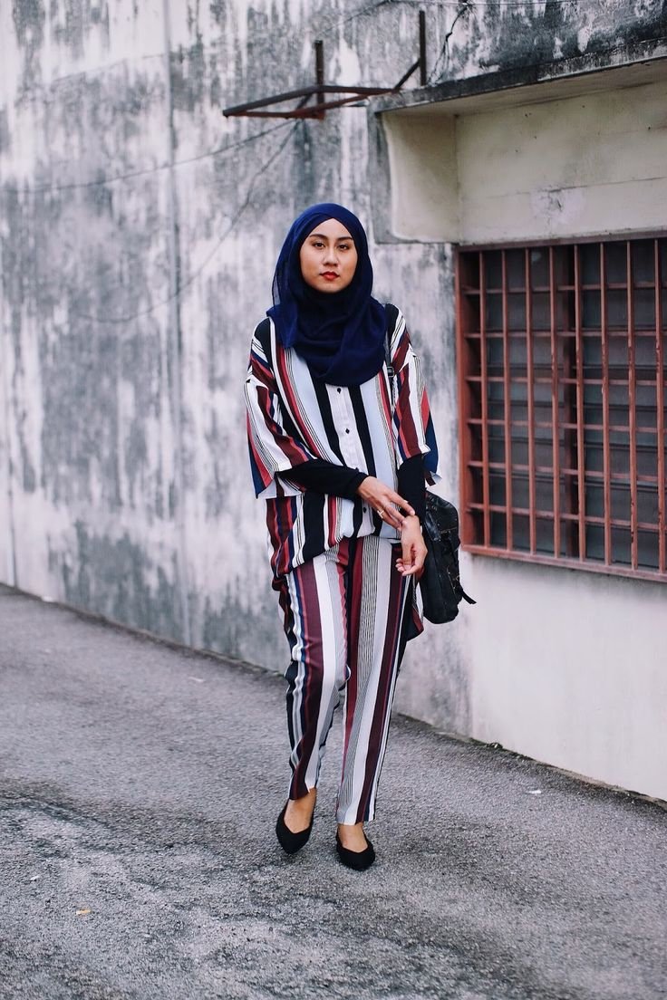 Striped Shirt with matching Striped Pants from Monki