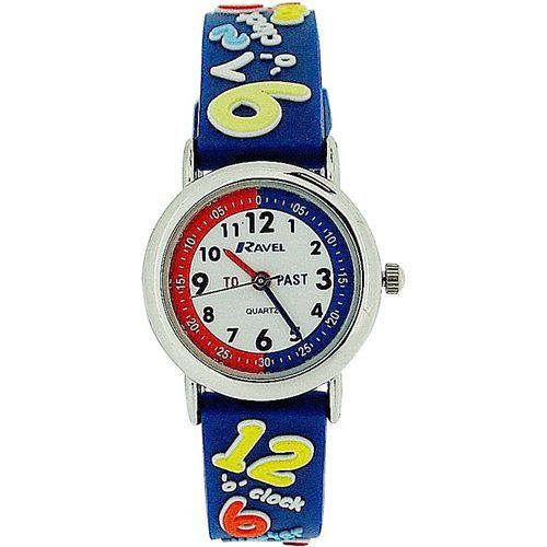 Ravel Boys 3D Know Your Numbers Design Time Teacher White Dial Watch R1513.42