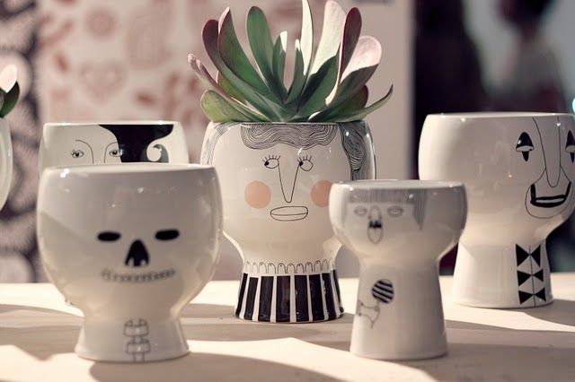 faces: Kitchens Window, People Ceramics, Crafts Ideas, Gifts Ideas, Flowers Pots, Fun Stuff, Patticak Pottery, Ceramics Faces, Fun Planters