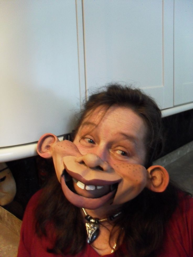 The Amazing Cable Controlled Professional Female Cheeky Ventriloquist Mask.