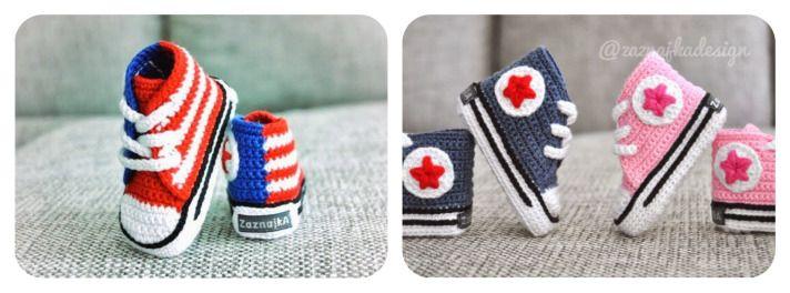Patrones Crochet, Manualidades y Reciclado: PATUCOS BEBÉ ALL STAR A CROCHET PASO A PASO CON VÍ...