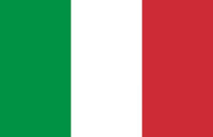 Green,white and red Flag of italy