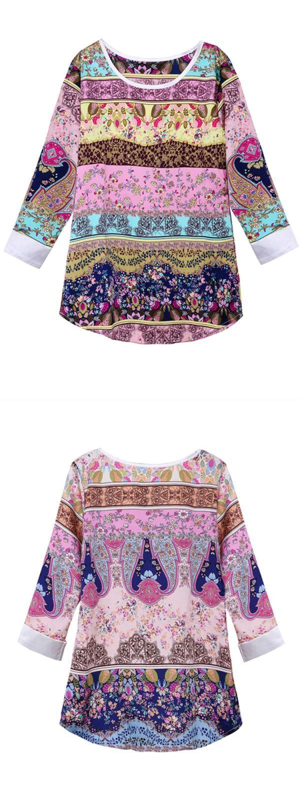 Kenar women#8217;s blouses women casual chiffon slim three quarter sleeve floral printed blouse t shirt tops #joanna #blouses #womens #shirts #neiman #marcus #womens #blouses #womens #vintage #blouses #zulily #womens #blouses