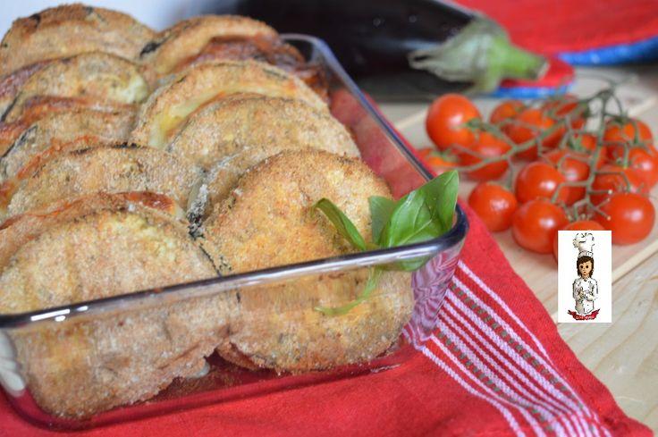 Melanzane e pomodori impanati al forno