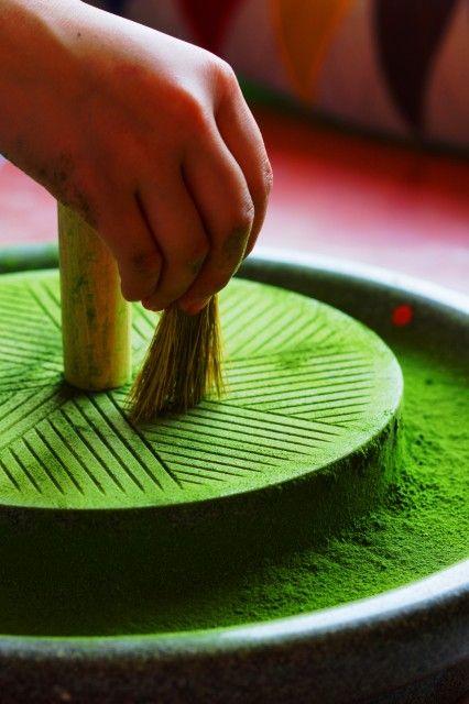 Japanese matcha powder. * Leaf & Ardor Ceremonial Grade Matcha is stone ground.