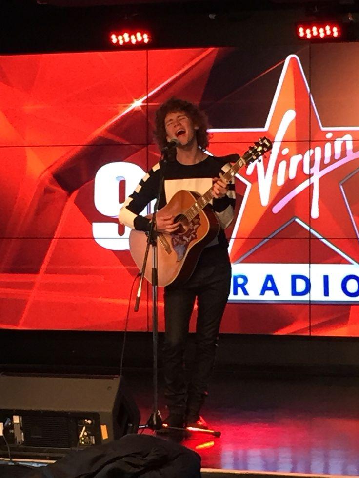 Francesco Yates performing at Virgin Radio!