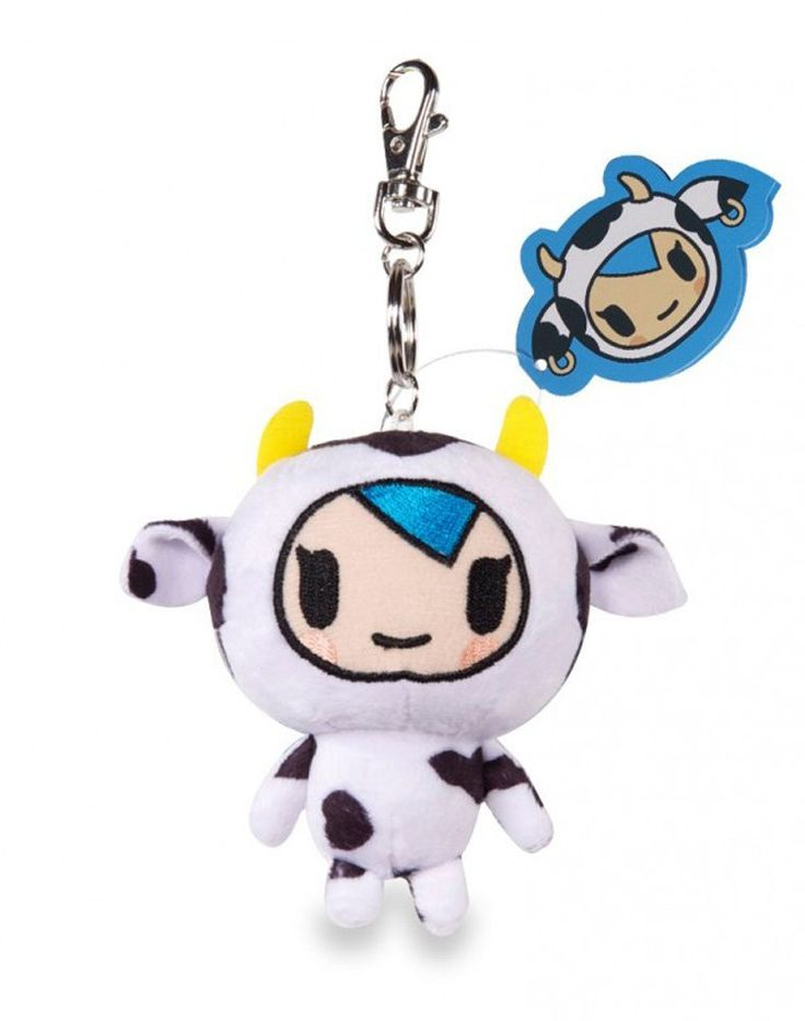 Bring your favorite Tokidoki characters with you wherever you go! Cute and cuddly, these wonderfully detailed mascot plush keychains are the perfect companions on all your travels. The Strawberry Milk