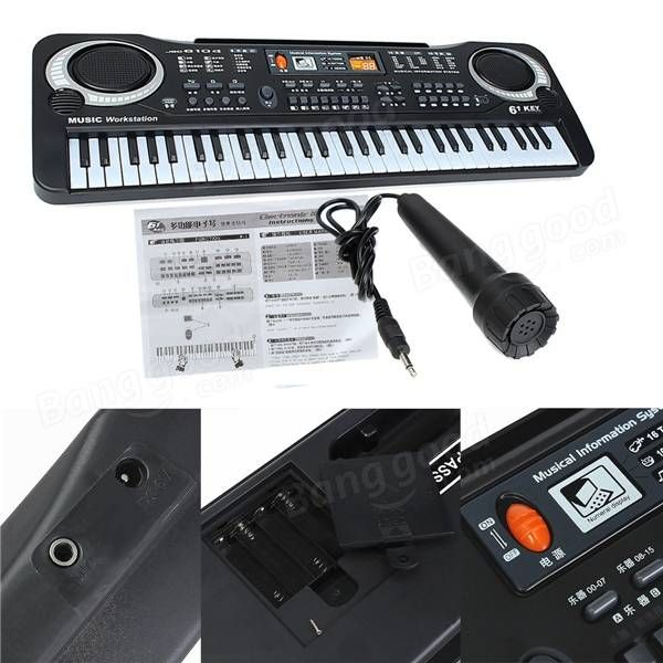 61 Keys Music Electronic Keyboard Key Board Kids Gift Electric Piano Organ Sale - Banggood.com  #Musical Instruments