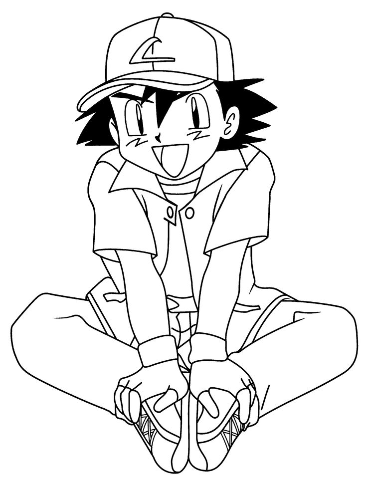 ash ketchum coloring pages - 23 best dragon ball z coloring pages images on pinterest