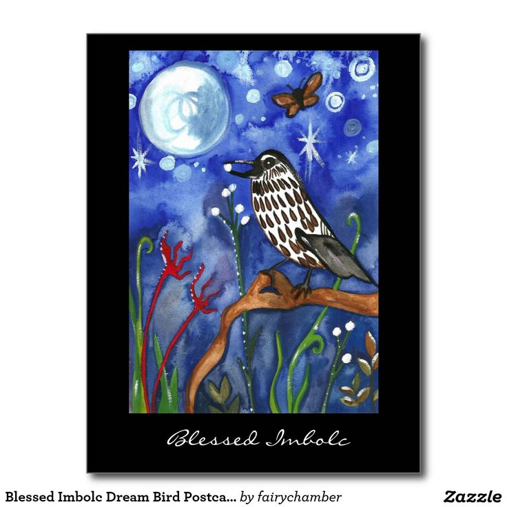 Blessed Imbolc Dream Bird Postcard