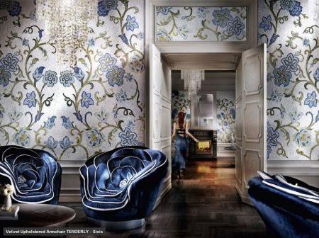 blue velvet chairs!