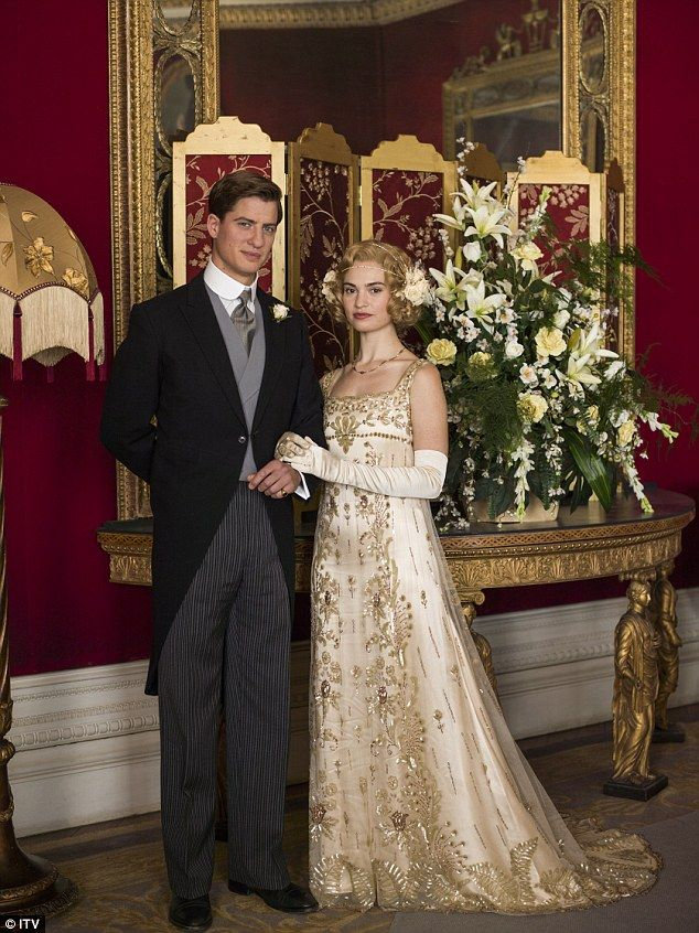 Lady Rose, who married Atticus, wore the intricate gown which Anna believes was created for 'possibly a war bride' but never worn and wanted to give the dress a happy ending