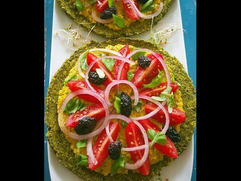 Raw vegan green pea pizza with a cheezy sauce recipe - http://www.paleodietdigest.com/paleo-pizza/raw-vegan-green-pea-pizza-with-a-cheezy-sauce-recipe/