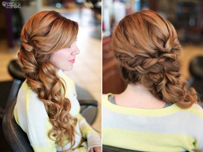 romantic wedding hair long soft braid @Alycia Canterbury I could see your hair like this if you didn't want to wear it down
