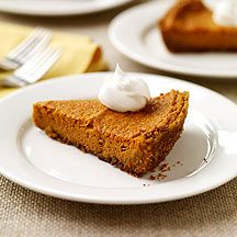 Pumpkin Pie with Graham Cracker Crust: Our take on this Thanksgiving classic features a light graham cracker crust. The filling's custardy and rich, with just a hint of spice.