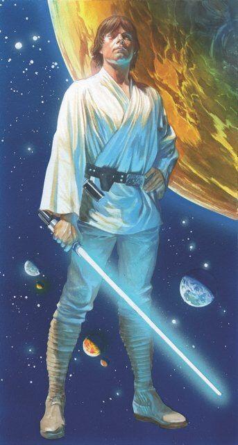 Star Wars #1 cover by Alex Ross Star Wars art - luke skywalker