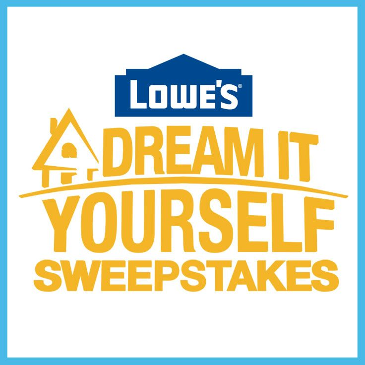 I just entered for a chance to win $100,000 in products and services from Lowe's.