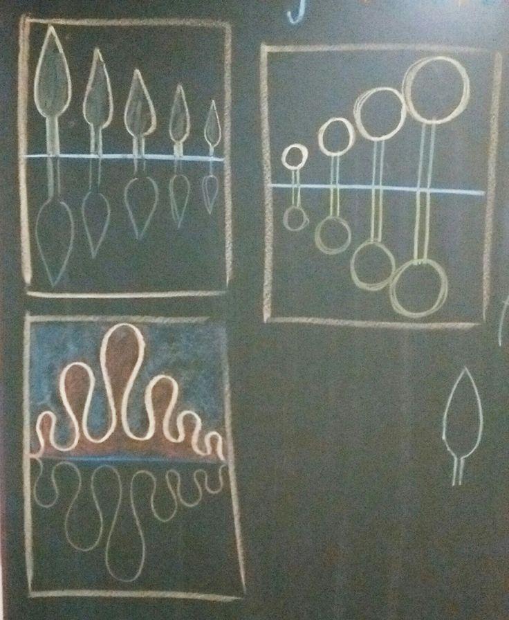 Dessin de forme. Symétrie 2eme classe