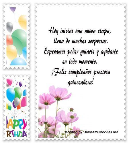 palabras para saludar a quinceañera,saludos para quinceañera para facebook:  http://www.frasesmuybonitas.net/mensajes-de-quinceanera/