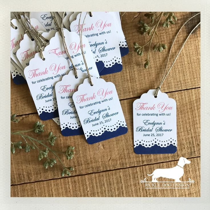 what to write in my bridal shower thank you cards%0A Personalized Gift Tags  Set of       VintageStyle  Bridal Shower  Wedding  Favor Tags  Baby Shower  Thank you  Custom Tags