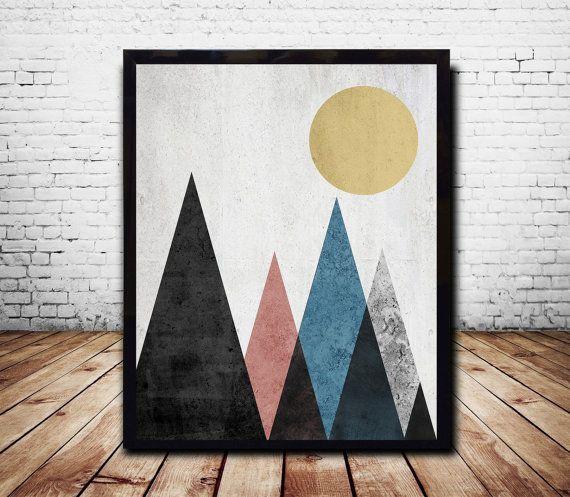 Printable Art Poster Digital Print Geometric Art by CosmicPrint