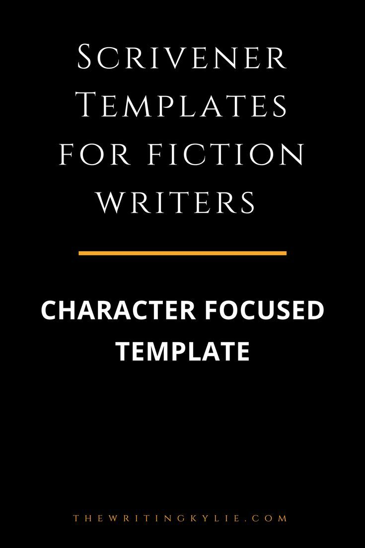 Character Focused Scrivener Template Story Structure Novel Writing National Month Dissertation