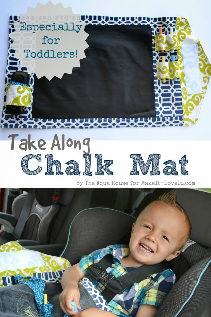 DIY Take-Along Chalk Mat...for kids!! --- Make It and Love It