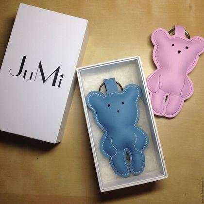 Брелоки ручной работы. Ярмарка Мастеров - ручная работа. Купить JuMi-мишка подвеска-брелок. Handmade. Комбинированный, мишутка