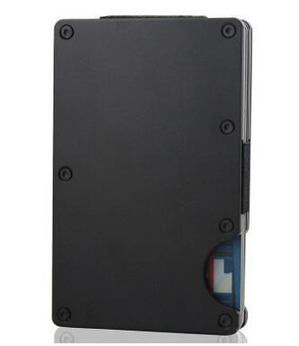 Fashion Slim Carbon Fiber Credit Card Holder RFID Non-scan