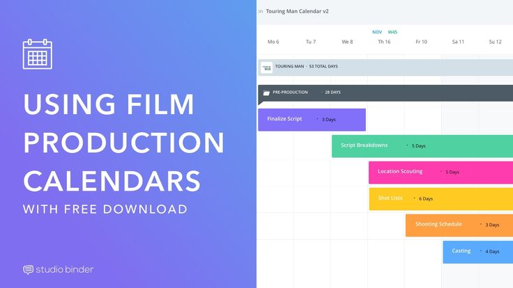 How Video Producers Use Film Production Calendar Templates Software Calendar Template Film Production Film