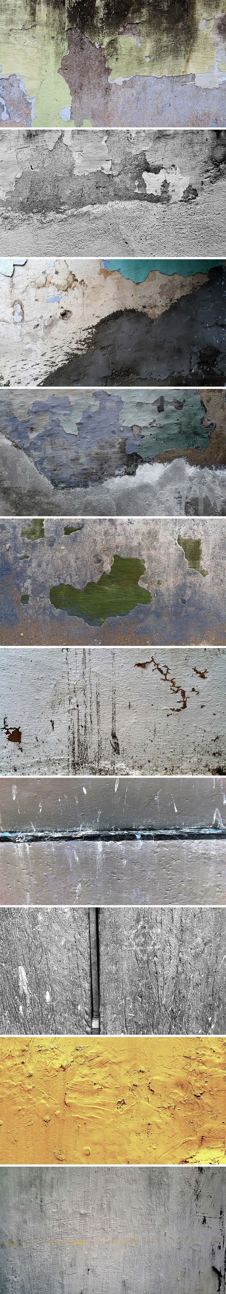 TweetSumoMeFriends, today's freebie is a set of 10 grunge wall textures. These texture images authentically look old, paint peeling and dirty because they are captured from a couple of real melancholic-looking houses and other areas.