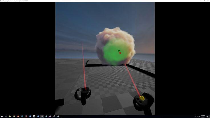 Painting 3D Flowmaps in VR in UE4