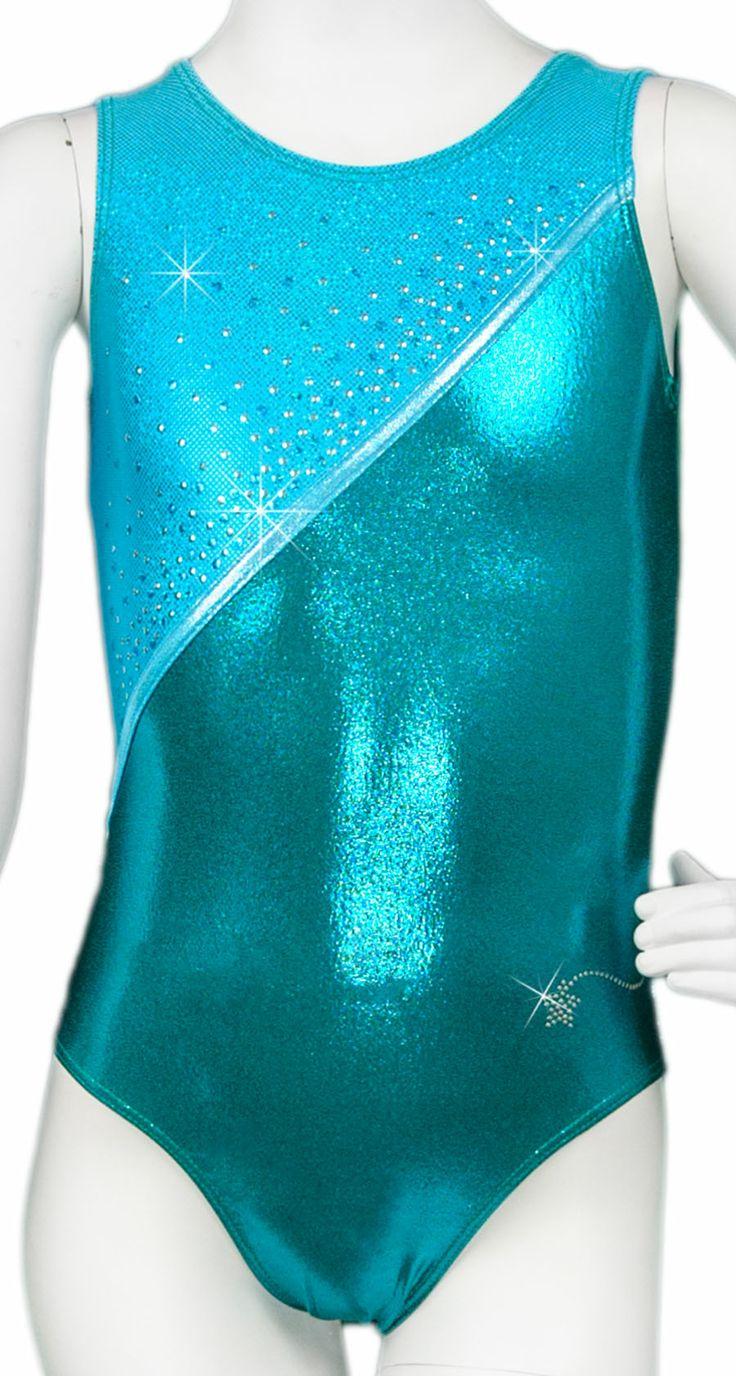 Destira: Turquoise Glam Sequins Leotard #leotard #girlsleotard #gymnastics