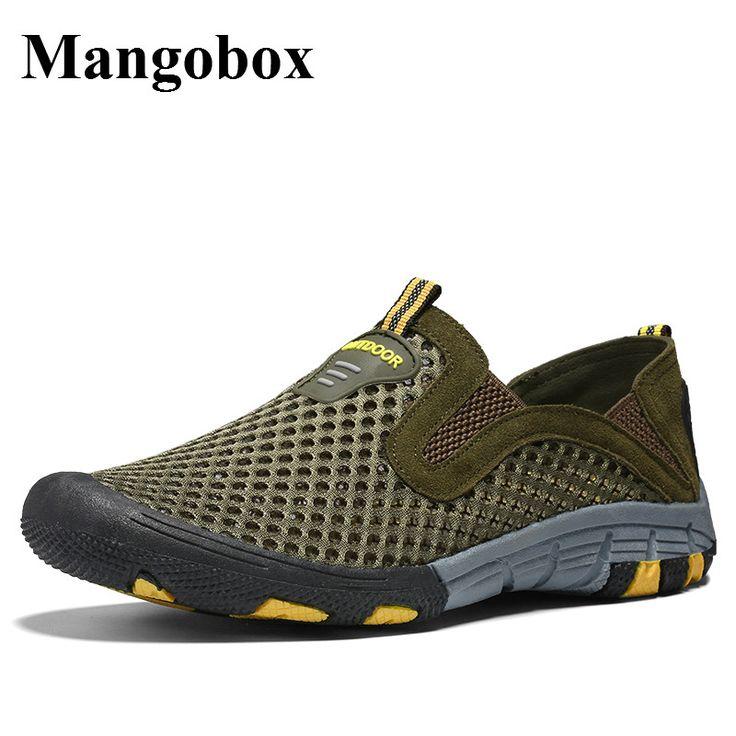 Hiking Shoes Men Breathable Trekking Shoes Men Non-Slip Mens Walking Shoes Outdoor Slip On Mens Hiking Footwear #Affiliate