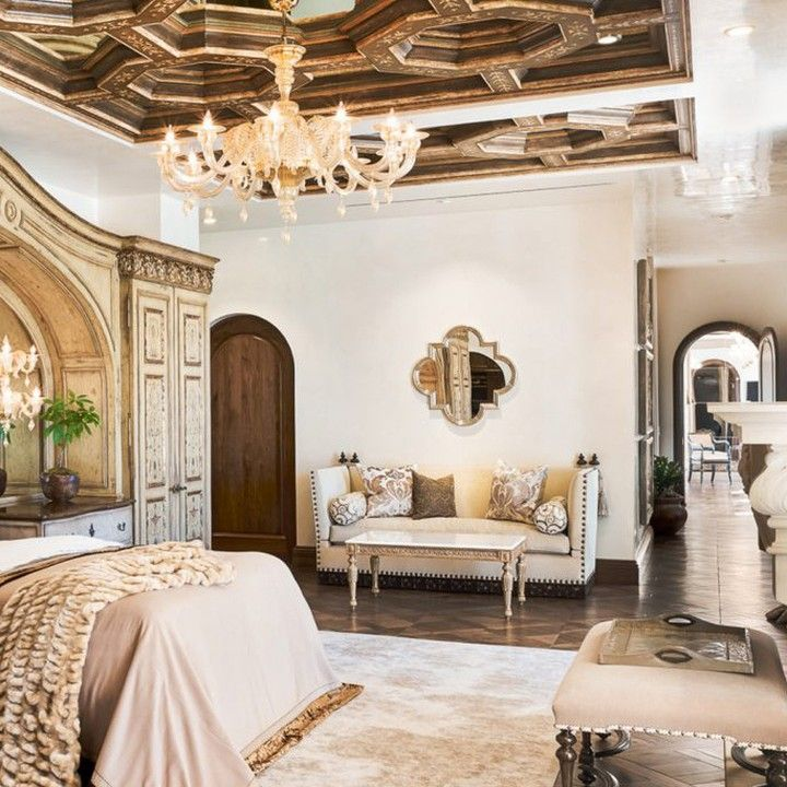 A Renaissance Revival Master Suite Design By Tara Dudley Interiors Featuring Ebanista S Montaigne C Beautiful Bedrooms Renaissance Revival Interior