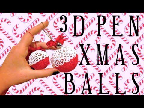 3D Pen XMas Balls https://m.youtube.com/watch?sns=fb&v=TOHz99Iycfw