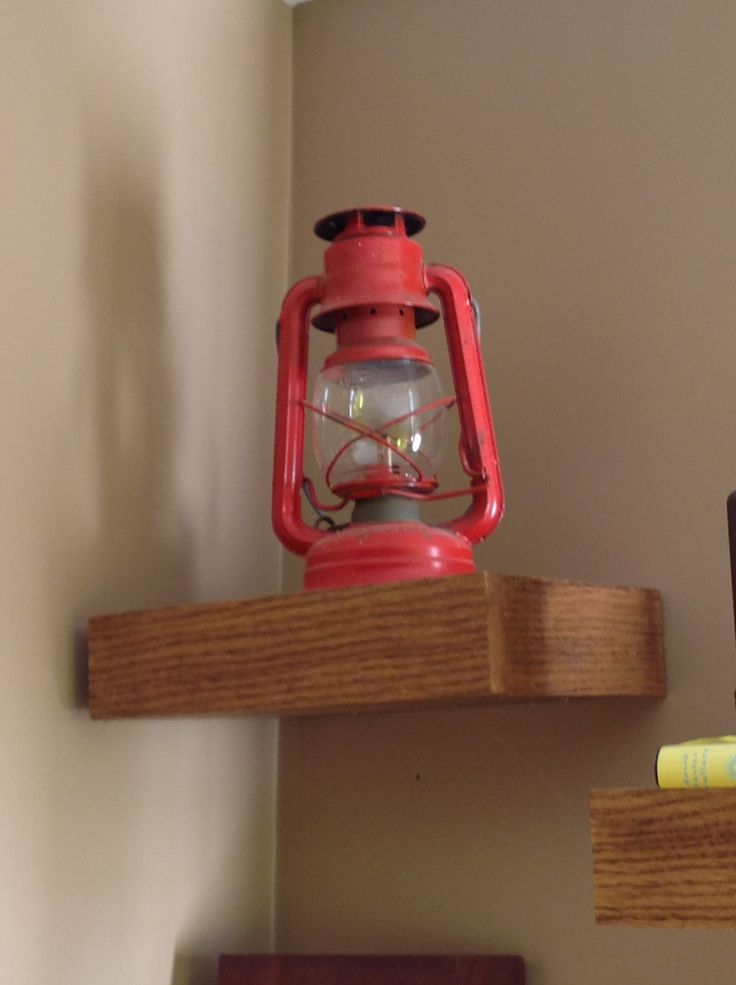 Fire truck red antique oil lamp