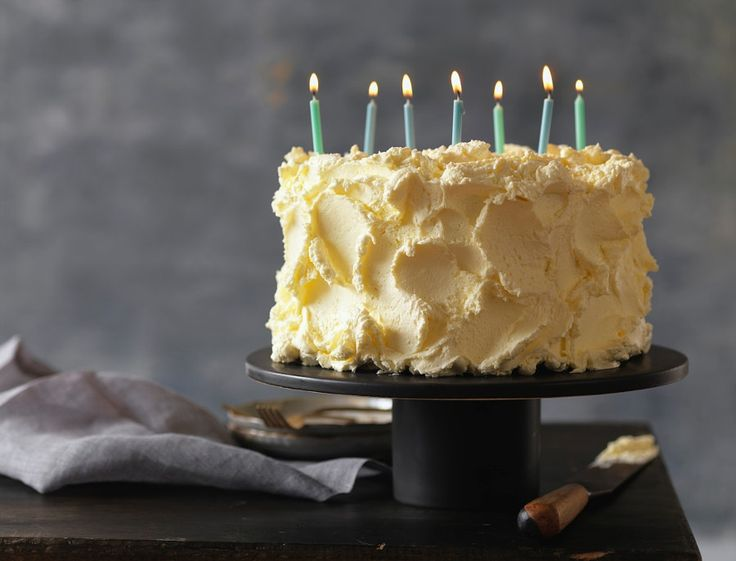 Vanilla Birthday Cake with Seven Candles Lit, Studio Shot by Radius Images - Photo 186893995 / 500px