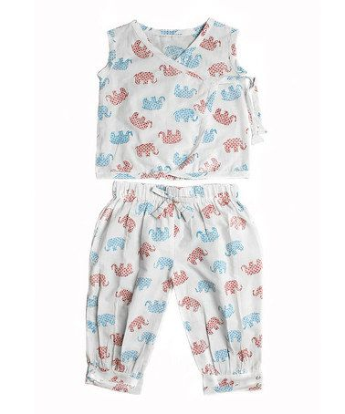 Love this White Elephant Lola Wrap Top & Pants - Toddler & Girls on #zulily! #zulilyfinds