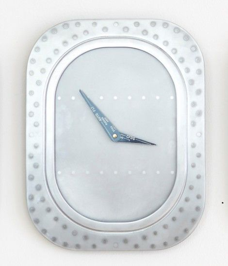 This clock has been finished with a complete Scotch-Brite surface