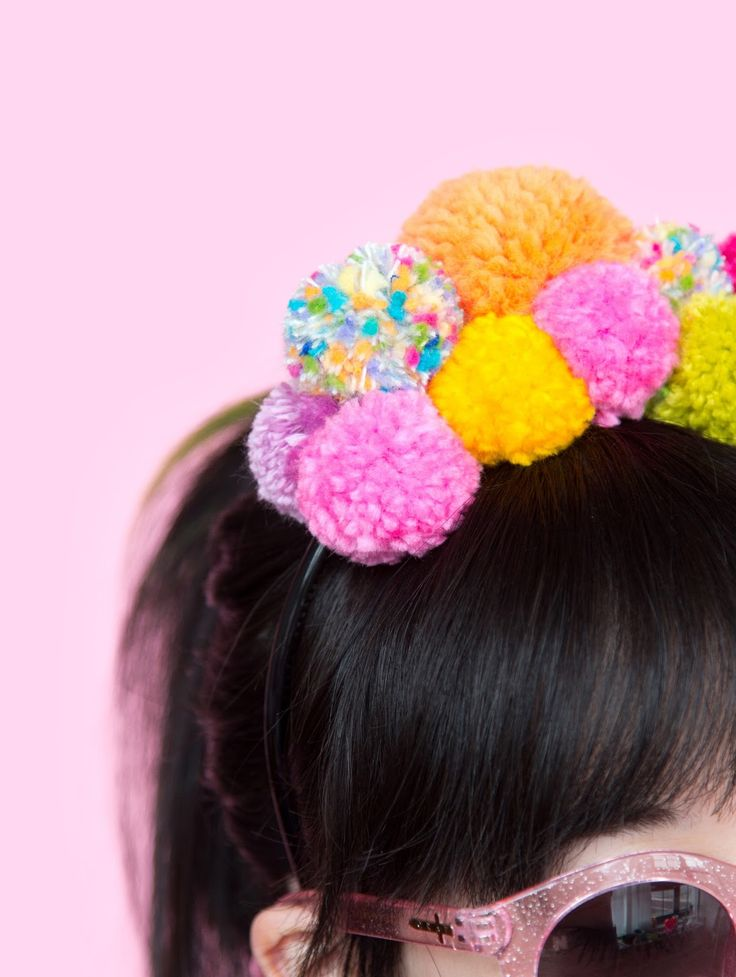 DIY Pom Pom Headband For Festival Season
