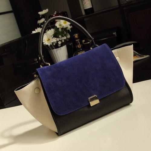 2013 Hot Sale Elegant Vintage Contrast Colour Women's Tote Bag : BagsQ.com