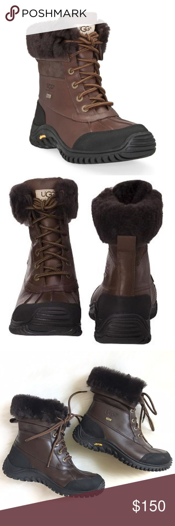 Ugg Adirondack snow boots brown leather size 10 Great condition. Worn maybe 10 times. Very warm and comfy. Does not come with box. UGG Shoes Winter & Rain Boots