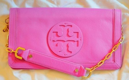 Pink Tory Burch Clutch!