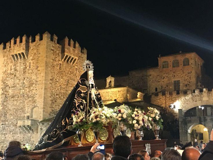 Semana Santa de Caceres la Virgen de La Soledad